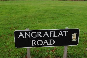 The incident happened in Kelso's Angraflat Road in the early hours of Sunday morning.