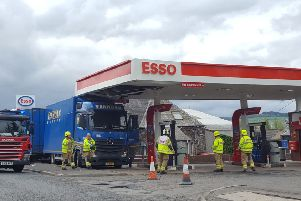 A lorry driver showed he hadn't a clue how high his vehicle was in Peebles today, shearing a good stretch off the roof.