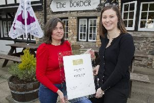 Award-winning house manager Julie Wilson, left, at The Border Hotel, with Lisa Donaldson, front of house.