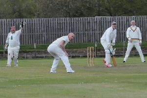 Kenny Patterson and fellow Selkirk players appeal for an lbw against Haddington (picture by Grant Kinghorn).