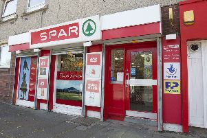 The Spar shop in Hawick's Dickson Street.
