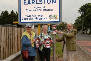 Earlston community councillors Gill Cooper,Sheila Gibb and Disney Barlow.