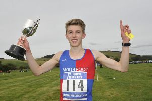 Jacob Adkin pictured during a successful day out in 2015 at Morebattle games (archive image).