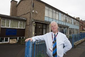 Hawick Councillor Davie Paterson at St Margaret's RC Primary School, Hawick