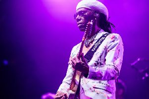Nile Rodgers on stage at 2019's Kendal Calling. Photo: Jody Hartley