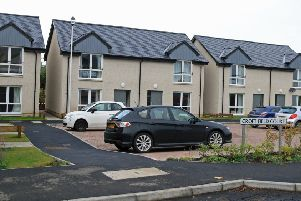 Existing affordable houses built for Eildon Housing Association at Croft Field Court in Jedward Terrace, Denholm.