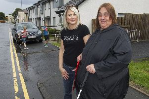 Claire Douglas-Hogg and Diane Pender in Liddlesdale Road, Hawick.