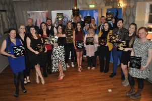 2018's Borders Best Bar None award-winners with their accolades at the Buccleuch Arms in St Boswells.