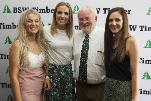 Former club Chairman Ross Cameron with Keelan Solley, Susan McConnell and Sarah Turnbull