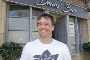 Mark Deans at Deans' Bar in Hawick.
