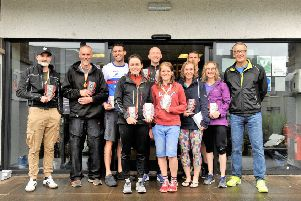 Winners from the Kelso Come & Tri event (picture by Alwyn Johnston)
