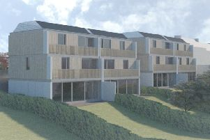 Four low-carbon homes proposed for a plot west of Thornwood Lodge in Hawick's Weensland Road.