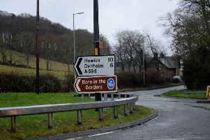 The A68 at Cleikimin.