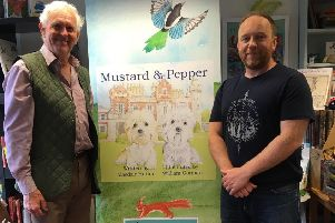 Alasdair Hutton, pictured with illustrator William Gorman, will be reading from his new book at Abbotsford on Friday, September 20.