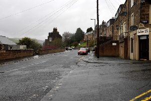 Magdala Terrace in Galashiels at its junction with Halliburton Terrace.