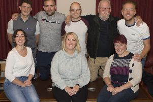 The cast of Two Rivers Theatre Company's 2019 production of Scots Wha Hae.