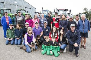 All those involved in Sunday's tractor run/