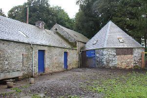 Former stables set to be converted into kennels at Carlenrig Farm near Teviothead.
