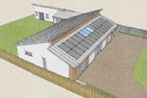 How a house being planned to replace Dundrummin at Parkdaill, near Hawick, would look.