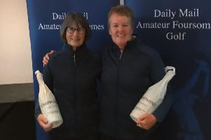 Eleanor Pearson, left, and Sharon Paterson of Kelso GC.