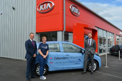 Gillanders Kia hands over a brand new Kia Picanto to The Wildcat Project representatives.
