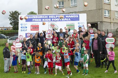 Hearts and Hibs players back free football coaching