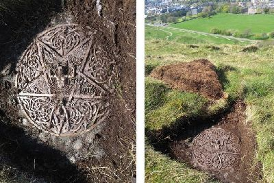 Mystery as pagan altar and symbol unearthed in Edinburgh's