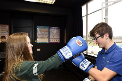 Video: Boxing lessons are huge hit with Kirkcaldy pupils