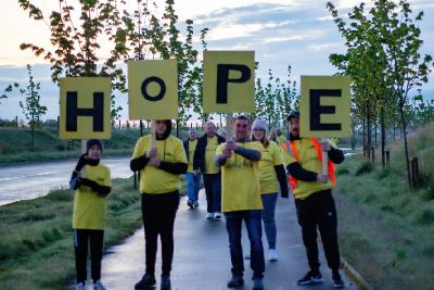 Walk of Hope Midlothian - Out of the darkness into the light
