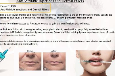 Misleading anti-wrinkle adverts and lip filling procedures