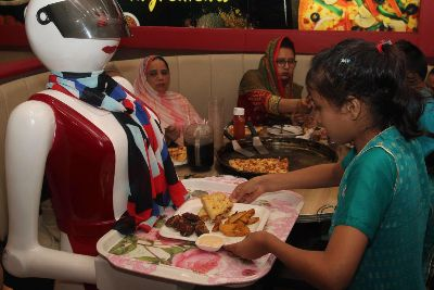 Scotland's first robot waiters are being rolled out in a