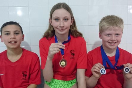 Left to right: Zico Field, Tilly Lakie and Liam Warner