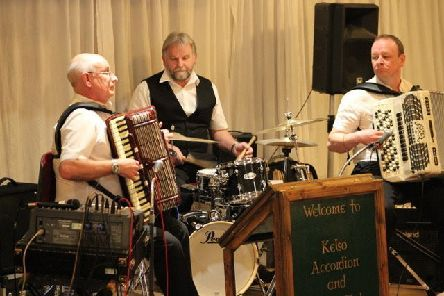 The David Husband Sound,  comprising David on piano accordion, Gavin Piper on 5-row and Alan Crawford on drums, were the guest artiste for the  first meeting of the New Year at Kelso Accordion and Fiddle Club.