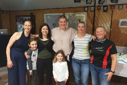 Left to right: Melanie Lowdon-King, Heidi Blake, Amy Blake, Julie Riley, Marti Riley, Linda and Meg Tindall.