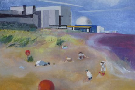 Beach by Rowena Comrie, one of  ten Scottish artists who have been selected for the John Muir Open, giving them an opportunity to develop their personal environmental practice in a joint exhibition.