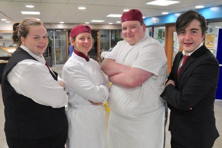 Borders Collect studentsHannah Finnie, Ann Letham, Angus Levell and Billy Brogan are heading to Gleneagles Hotel for a two week work placement.