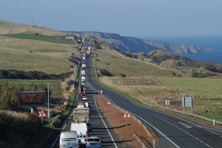 The A1 goes down to single lane at the England/Scotland border.