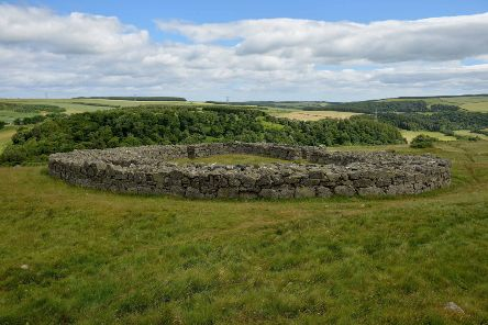 Edin's Hall Broch, near Duns.
