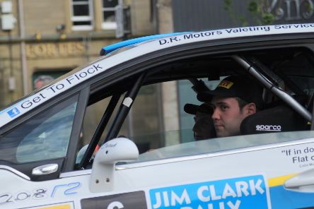 Friday night, Duns town centre stage of 2014 Jim Clark Rally''Garry Pearson / Davey Robson