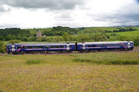 A train on the Borders Railway.