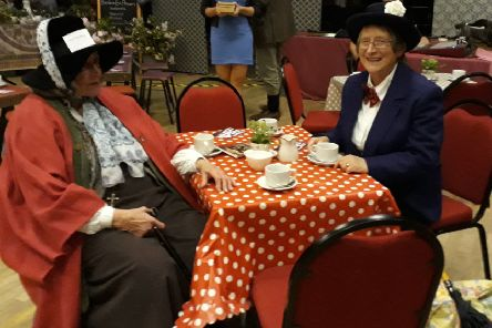 The Wife of Bath had tea with Mary Poppins at the opening event of DunsPlayFest.