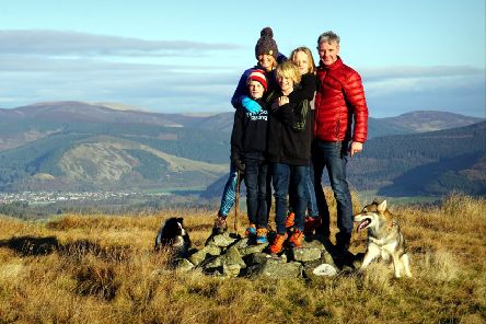 Family hobby...has turned into a passion for the Birks, with the boys competing in TweedLove events and Jamie and Sarah working for the organisers.
