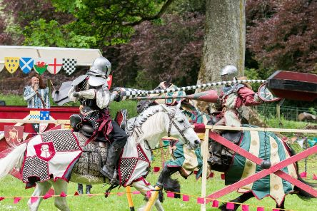 WWW.IANGEORGESONPHOTOGRAPHY.CO.UK'PICTURE: 'TRAQUAIR MEDIEVAL FAYRE'Saturday 27th and Sunday 28th May 2017'11am ' 5pm'Traquair House Innerleithen Peeblesshire'''The Traquair Medieval Fayre is Scotland's only authentic Medieval Fayre of its kind and is an unbeatable mix of medieval entertainment from jousting to jesters in the grounds of Scotland's Oldest Inhabited House.' 'This year the event grows more international with record numbers of re-enactors, entertainers and traders coming from across Europe to entertain and re-create life in medieval times.' 'As always the spectacle of Jousting down the great grassed avenue of Traquair is a must see with shows by Jousting Scotland and the military camp of the Douglas retinue will be providing displays of cannon firing, archery and military preparation.''In front of the house, combat displays with knights in armour, a medieval mel?e and tourn?e will take place with some dazzling displays of fighting tactics and drama. ''Walk into the old walled garden and be transp