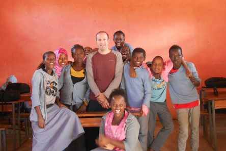 Teaching children in Ethiopia...was Dominic Taddei's first stop in Africa, before moving on to Kenya and Uganda.
