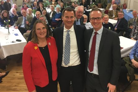 Jeremy Hunt pictured with MP John Lamont and MSP Michelle Ballantyne during a visit to the Borders