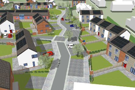 A 3D view of the Ayton housing development site from Summerhill Park.