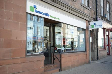 The Berwick branch of Newcastle Building Society is currently underoing major refurbishment work.