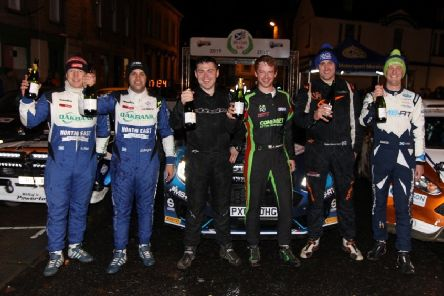 From left, Kevin Rae, David Bogie, Andy Hayes, Josh Moffett, Dale Robertson and Stuart Loudon.