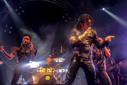 Ben Bowman as Michael Jackson. His tribute show to the King of Pop visits Aberdeen's Music Hall this summer.
