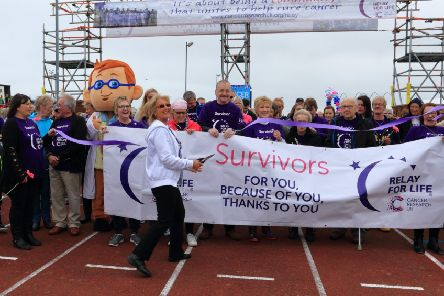 Survivors kick-off a previous Peterhead Relay for Life event